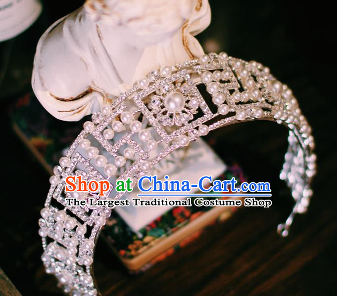 European Court Hair Jewelry Wedding Bride Hair Accessories Baroque Princess Royal Crown