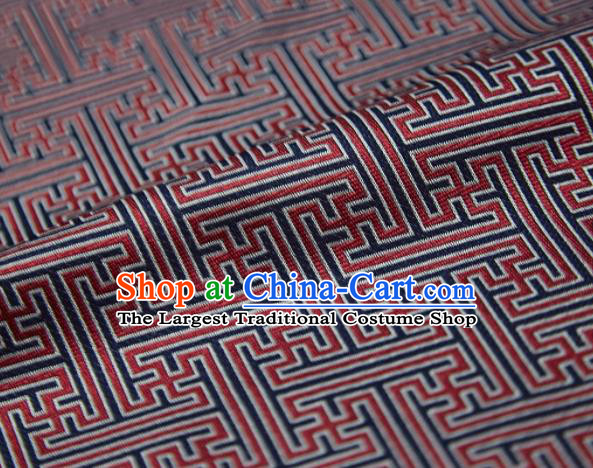 Chinese Classical Pattern Design Red Song Brocade Fabric Asian Traditional Silk Material