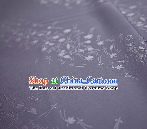 Chinese Classical Jacquard Pattern Design Light Purple Mulberry Silk Fabric Asian Traditional Cheongsam Silk Material