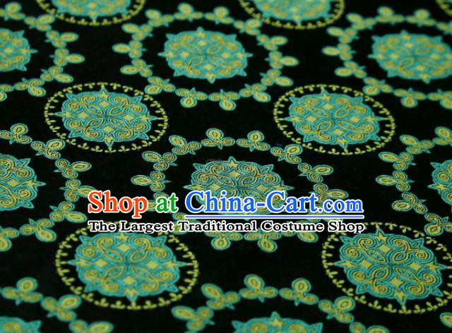 Chinese Classical Pattern Design Atrovirens Song Brocade Fabric Asian Traditional Silk Material