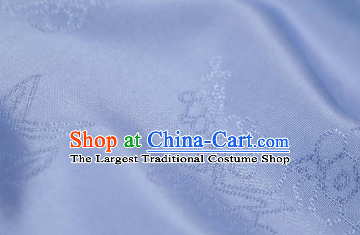 Chinese Classical Plum Pattern Design Lilac Mulberry Silk Fabric Asian Traditional Cheongsam Silk Material
