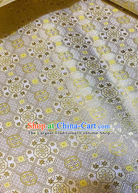 Chinese Classical Royal Pattern Design Light Golden Brocade Fabric Asian Traditional Satin Tang Suit Silk Material