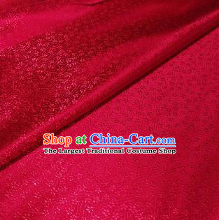 Chinese Classical Babysbreath Pattern Design Deep Red Brocade Fabric Asian Traditional Satin Silk Material