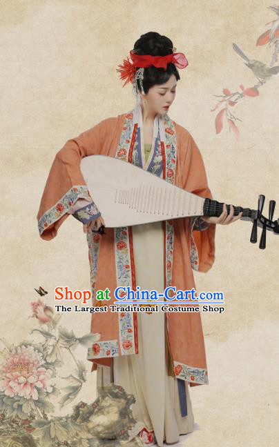 Chinese Ancient Oiran Hanfu Dress Traditional Song Dynasty Courtesan Li Shishi Costumes for Women