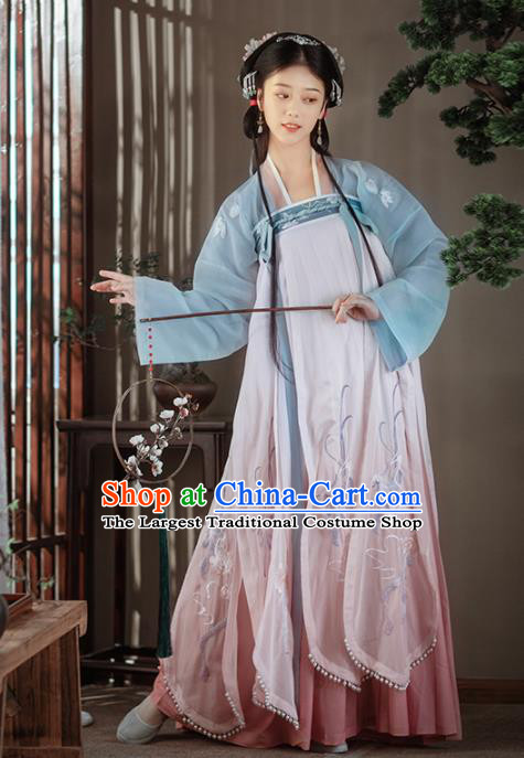 Chinese Ancient Rich Female Hanfu Dress Traditional Song Dynasty Nobility Lady Costumes for Women