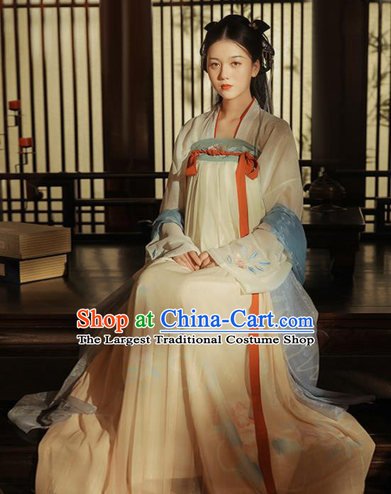 Chinese Ancient Princess Hanfu Dress Traditional Song Dynasty Nobility Lady Costumes for Women