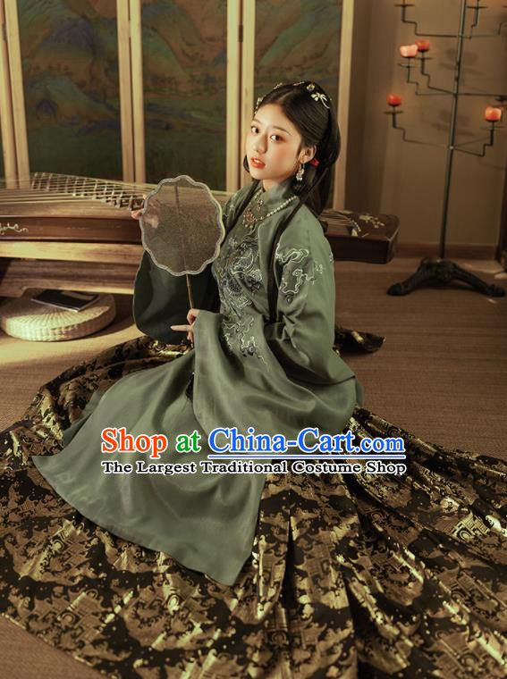 Chinese Ancient Nobility Countess Hanfu Dress Traditional Ming Dynasty Royal Princess Costumes for Women