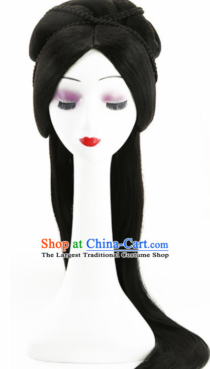 Chinese Classical Tang Dynasty Princess Wigs Hair Accessories Ancient Goddess Chignon for Women