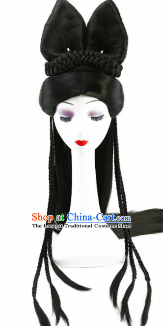 Chinese Ancient Princess Wigs Hair Accessories Drama Goddess Chignon for Women