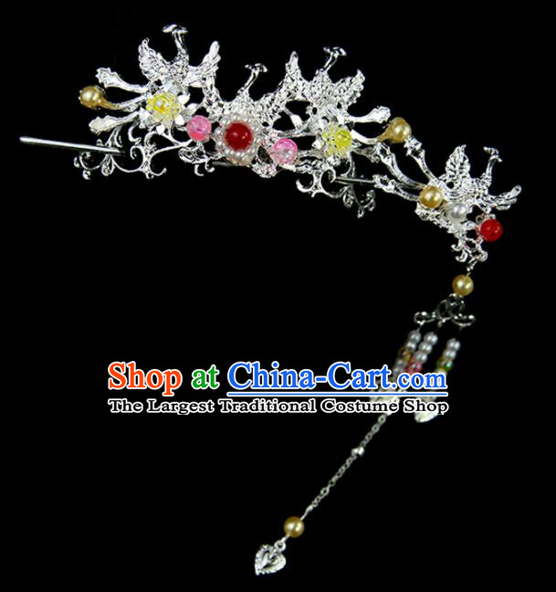 Chinese Ancient Princess Phoenix Hair Crown and Hairpins Traditional Classical Dance Hair Accessories for Women