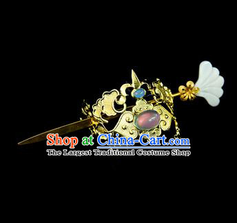 Chinese Ancient Swordsman Hair Accessories Drama Young Knight Hair Crown and Hairpin for Men