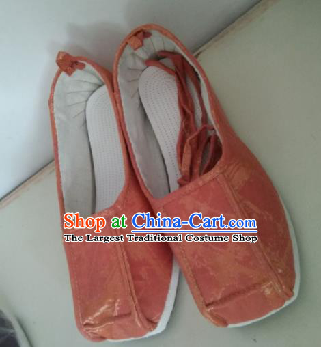 Chinese Traditional Pink Satin Shoes Opera Shoes Hanfu Shoes Ancient Princess Shoes for Women