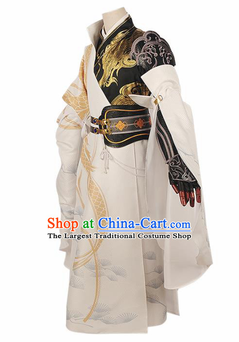 Chinese Cosplay Swordsman King Hanfu Clothing Traditional Ancient Royal Highness Costume for Men