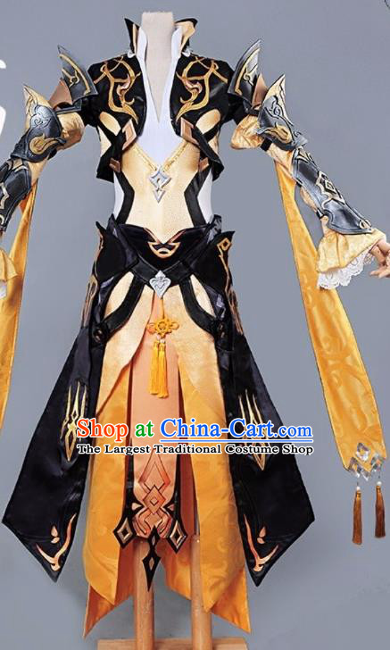 Chinese Cosplay Game Female General Dress Traditional Ancient Swordsman Costume for Women