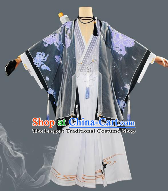 Japanese Cosplay Warrior Knight Kimono Traditional Ancient Swordsman Costume for Men