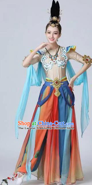 Chinese Classical Dance Dunhuang Flying Apsaras Dress Traditional Stage Show Costume for Women