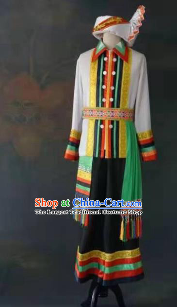 Chinese Ethnic Stage Show Costumes Traditional Dai Nationality Folk Dance Clothing for Men