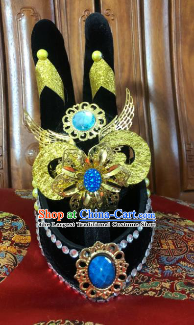 Chinese Classical Dance Flying Apsaras Hair Accessories Traditional Stage Show Headwear for Women