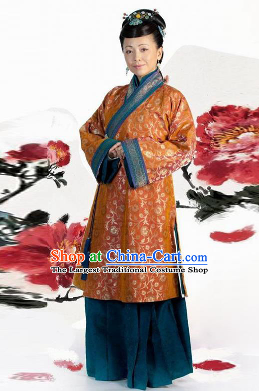 Chinese Traditional Song Dynasty Mistress Costume Ancient Landlord Shiva Hanfu Dress for Women