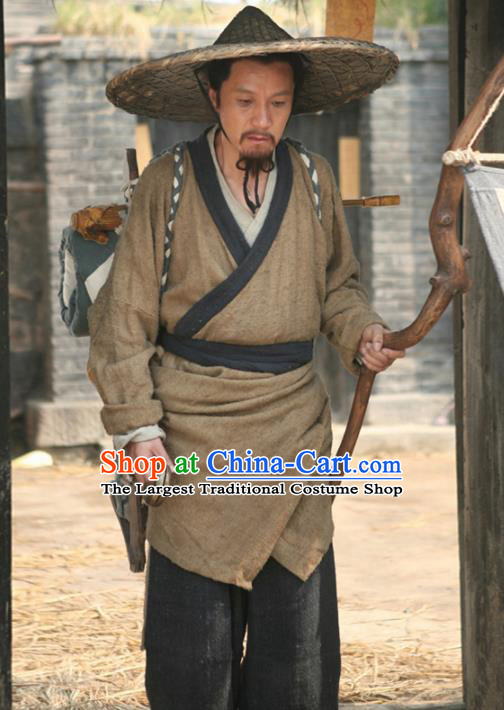 Chinese Traditional Ming Dynasty Civilian Costume Ancient Poor Male Hanfu Clothing for Men