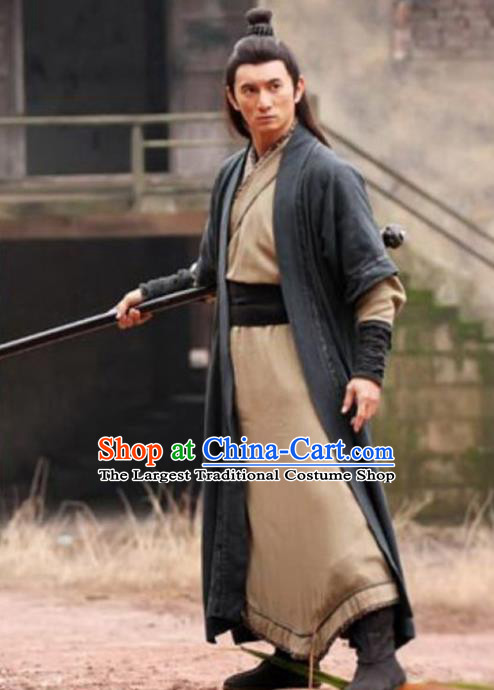 Chinese Traditional Ming Dynasty Swordsman Costume Ancient Wu Xia Drama Knight Hanfu Clothing for Men