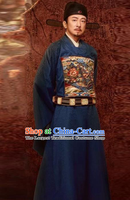 Chinese Traditional Ming Dynasty Minister Costume Ancient Drama Official Hanfu Clothing for Men
