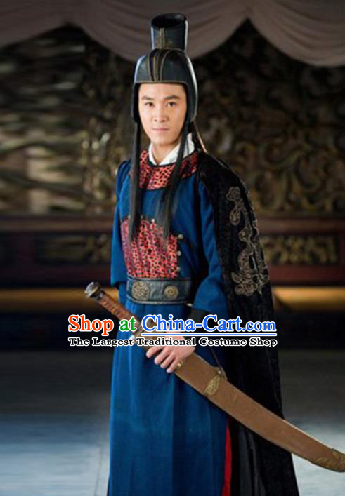 Chinese Traditional Ming Dynasty Imperial Guards Costume Ancient Drama Swordsman Hanfu Clothing for Men