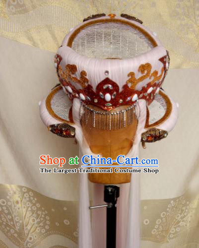 Custom Chinese Cosplay Royal Prince Swordsman Pink Wigs Ancient Taoist Hair Chignon and Accessories for Men