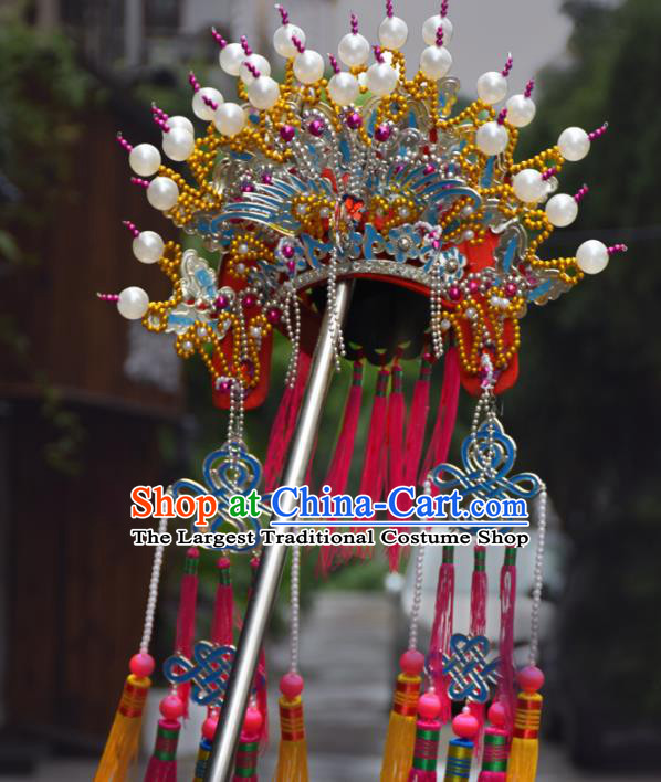 Chinese Traditional Goddess Queen Phoenix Coronet Bodhisattva Hat Hair Accessories