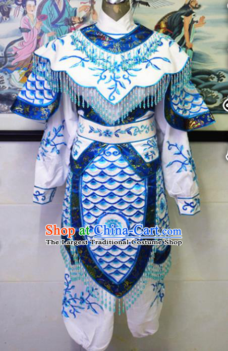 Chinese Traditional Peking Opera Swordswoman Embroidered Dress Ancient Female Knight Costume for Women