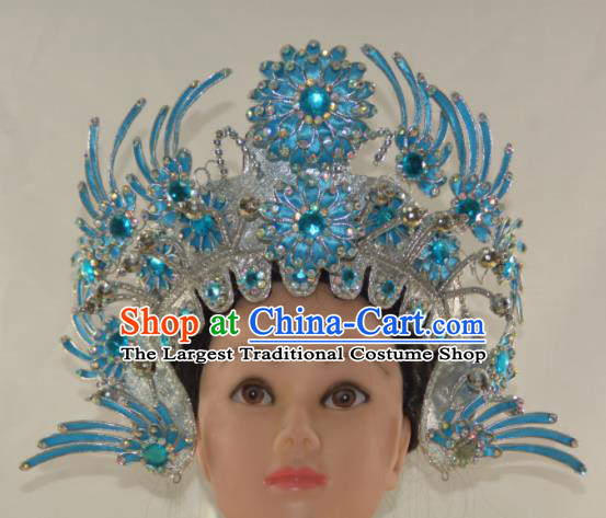 Chinese Traditional Peking Opera Female Swordsman Hat Handmade Madam White Snake Hair Accessories for Women