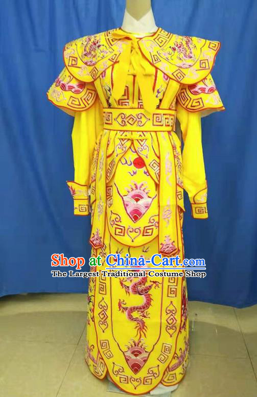 Chinese Traditional Peking Opera Takefu Embroidered Red Dragon Kao Costume Handmade Ancient Swordsman Clothing for Men