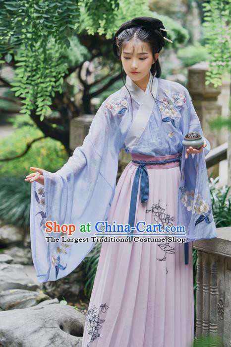 Chinese Ancient Drama Servant Girl Hanfu Dress Traditional Han Dynasty Royal Princess Costumes for Women