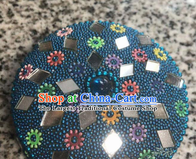 Nepal Traditional Nationality Blue Beads Jewel Case Indian Jewellery Box