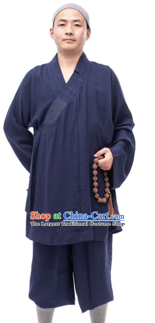 Blue Color Ancient Chinese Style Monk Dresses Monk Garment for Men
