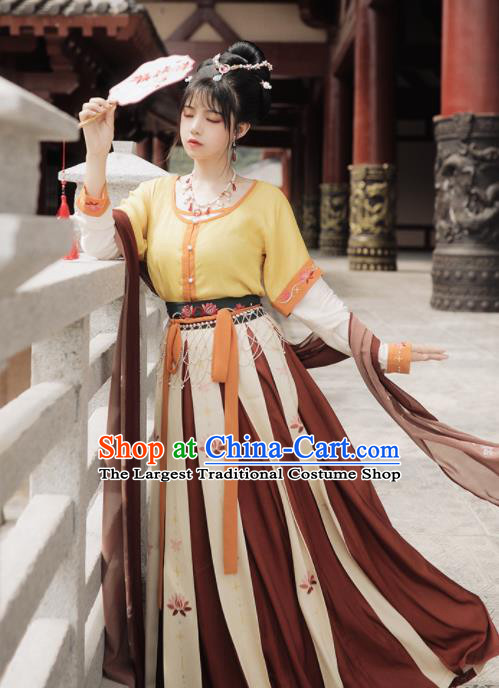 Chinese Ancient Drama Court Maid Hanfu Dress Traditional Tang Dynasty Flying Goddess Dance Costumes for Women