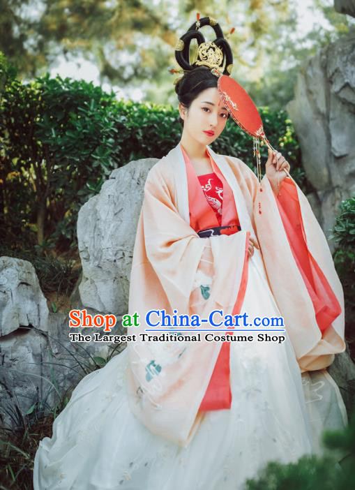 Chinese Ancient Drama Imperial Concubine Hanfu Dress Traditional Jin Dynasty Empress Dance Costumes for Women