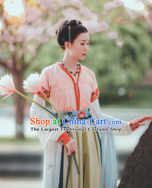 Chinese Ancient Drama Court Maid Hanfu Dress Traditional Tang Dynasty Servant Girl Costumes for Women