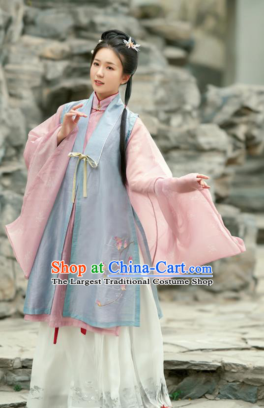 Chinese Ancient Drama Nobility Lady Hanfu Dress Traditional Ming Dynasty Rich Girl Costumes for Women