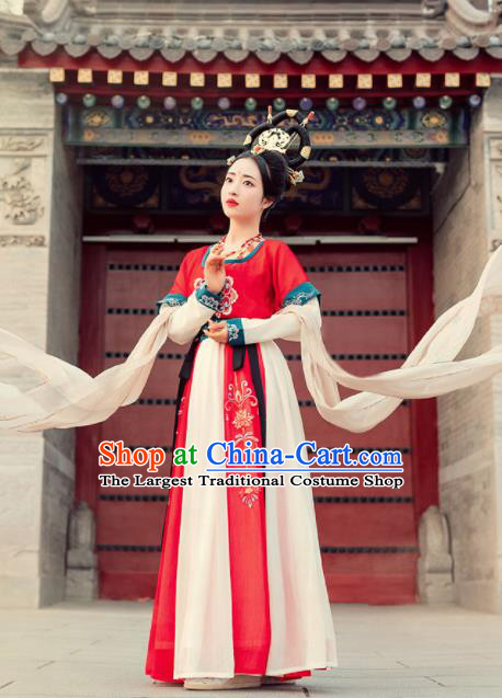 Chinese Ancient Drama Flying Apsaras Goddess Dance Hanfu Dress Traditional Tang Dynasty Palace Princess Costumes for Women