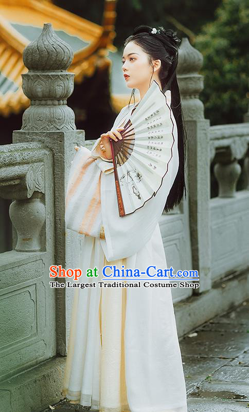 Chinese Ancient Swordswoman Hanfu Dress Traditional Jin Dynasty Female Civilian Costumes for Women