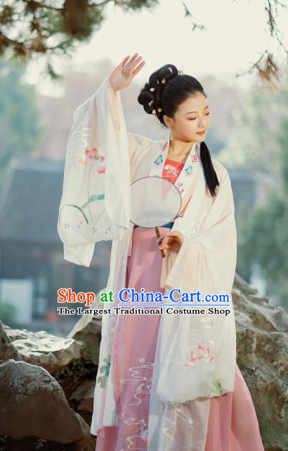 Chinese Ancient Courtesan Hanfu Dress Traditional Ming Dynasty Nobility Concubine Costumes for Women