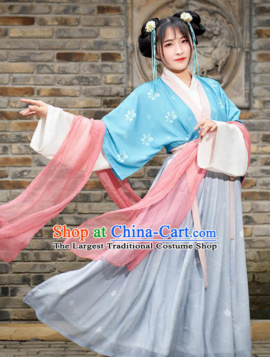 Chinese Ancient Nobility Lady Hanfu Dress Traditional Tang Dynasty Court Princess Costumes for Women