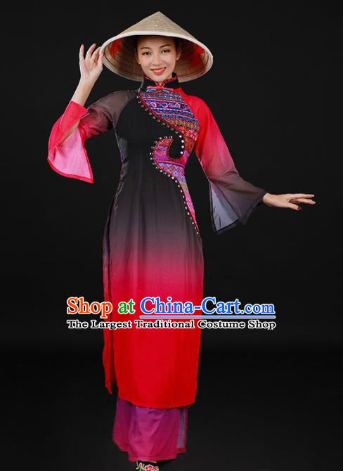 Chinese Spring Festival Gala Classical Dance Qipao Dress Traditional Chorus Costume for Women