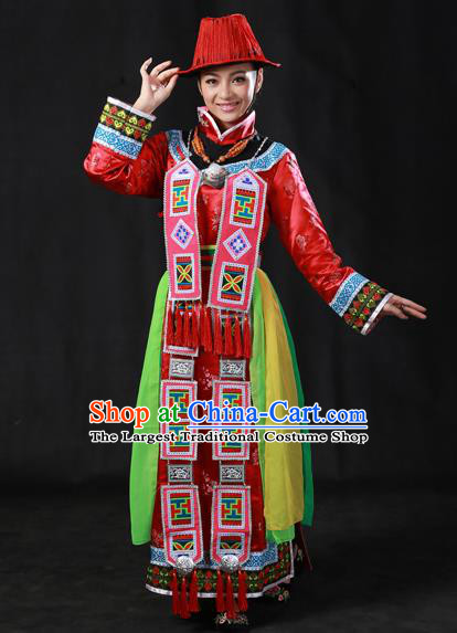 Chinese Traditional Yughur Nationality Dress Ethnic Minority Folk Dance Stage Show Costume for Women