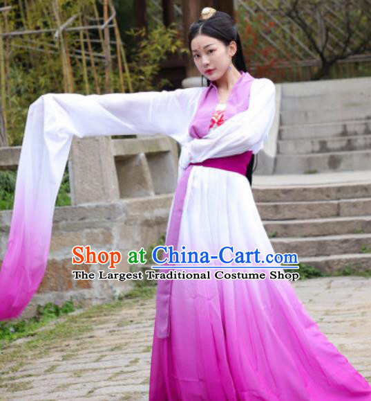 Traditional Chinese Classical Dance Hanfu Dress Ancient Drama Court Princess Costume for Women