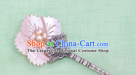 Korean Traditional Court Bride Pink Shell Hairpins Asian Korea Fashion Wedding Hair Accessories for Women