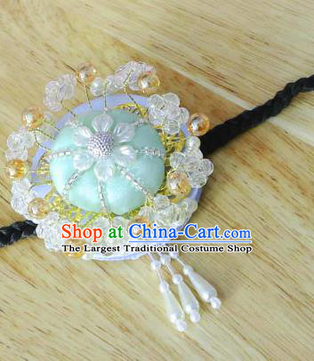 Korean Traditional Court Bride Beads Green Hairband Asian Korea Fashion Wedding Hair Accessories for Women