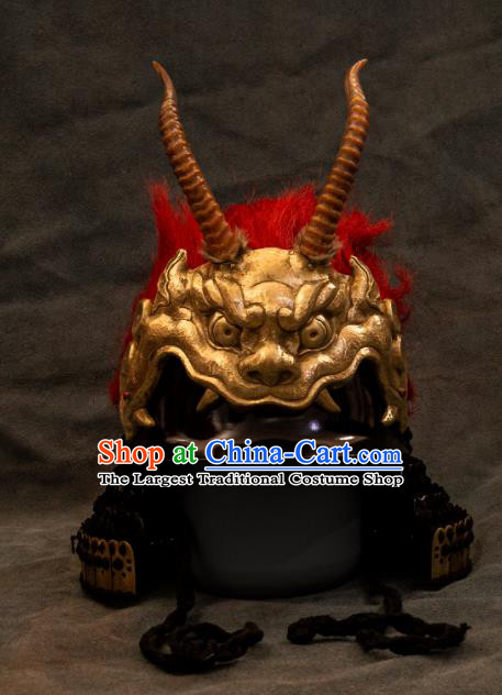 Chinese Traditional Song Dynasty General Helmet Ancient Military Officers Headwear for Men