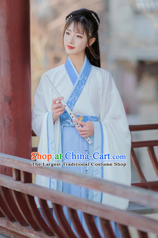 Chinese Traditional Jin Dynasty Female Hanfu Dress Ancient Swordswoman Costumes for Women